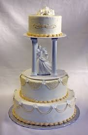 traditional wedding cakes traditional wedding cake in ivory and white