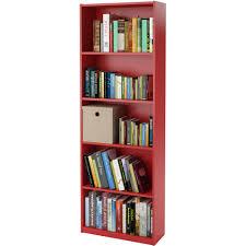 Self Assembly Bookshelves by Ameriwood 5 Shelf Bookcase Multiple Colors Walmart Com