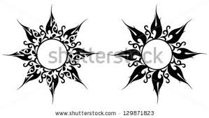 vector ornament abstract sun flower stock vector 129871823