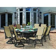 Patio Dining Set With Fire Pit - castelle bellagio sling dining set patiosusa com