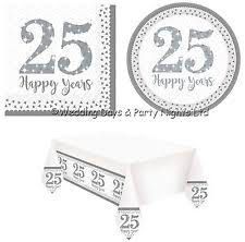 25th wedding anniversary plates silver anniversary party plate ebay