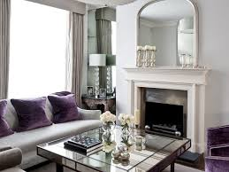 sitting chairs for living room luxury living room purple armcahir cream walls antique mirror