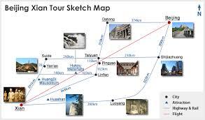 map of xi an xian tour maps tourist map of xian tour beijing