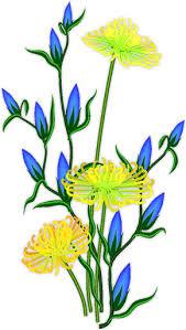 Blue Flower Vine - blue flower clipart flowering vine pencil and in color blue