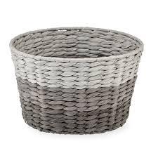 compact grey laundry basket 35 grey wicker laundry basket uk r