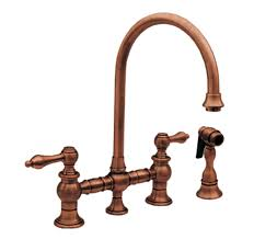 gooseneck kitchen faucet whitehaus whkblv3 9101 bn vintage iii kitchen bridge faucet with