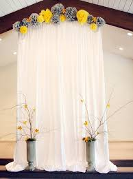 Curtains With Pom Poms Decor Wedding Curtain And Diy Paper Pom Poms Garland Crafts Wedding