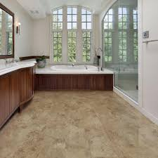 beige tile allure vinyl plank flooring matched with white wall