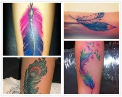 2014 top 12 watercolor feather tattoo that you can u0027t miss from