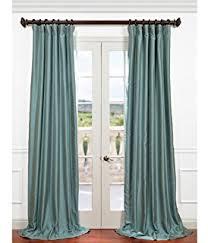 Teal Taffeta Curtains Half Price Drapes Ptch Jtsp5 84 Faux Silk Taffeta