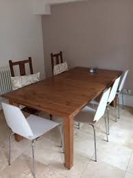 ikea stornas extending table seating 6 12 antique stain in