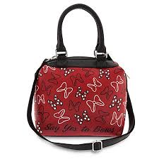 bags of bows disney satchel crossbody bag minnie mouse say yes to bows