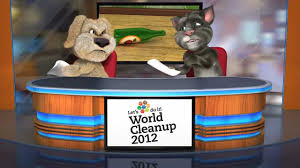 talking tom and ben news world cleanup 2012 youtube