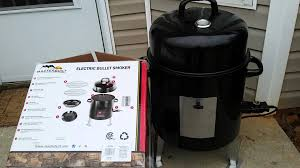 masterbuilt electric bullet smoker youtube
