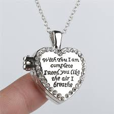 best friend heart necklace images Wholesale new i need you crystal love heart floating locket jpg