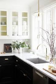 Two Color Kitchen Cabinet Ideas Kitchen Design Two Color Cabinets Kitchen Black Cabinet Green