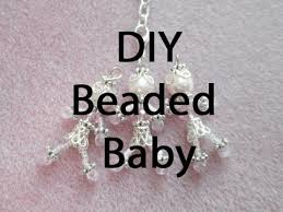 baby keychains diy beaded baby charm for keychains
