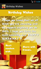 Free Sample Birthday Wishes Birthday Wishes Android Apps On Google Play