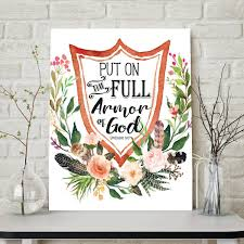 put on the full armor of god ephesians 6 10 scripture wall