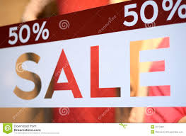 store sale window display stock image image 32172401
