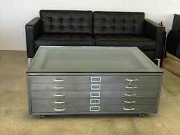 Library Tables For Sale Vintage Steel Flat Files Architect File Coffee Table Newfla Thippo