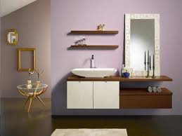 Teak Vanity Bathroom by Teak Floating Shelves Over Toilet With Symmetrical Display Of