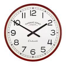 clocksmith clock red simple british design u2013 cowshed interiors