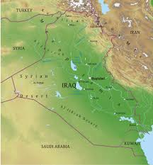 Geographical Map Maps Of Iraq Bizbilla Com