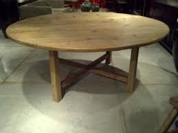 Rustic 72 Round Pine Dining Table Mecox Gardens