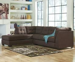 sectional with sofa sleeper benchcraft maier walnut 2 piece sectional w sleeper sofa u0026 left