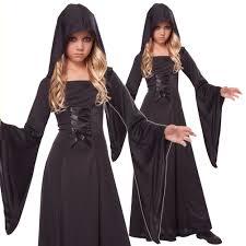 medieval halloween costume kids girls black medieval witch sorceress halloween costume ebay