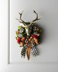 mackenzie childs stag deer wreath