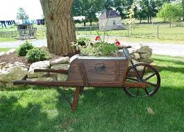 Wooden Wheelbarrow Planter by Carts And Wheelbarrows By Dutchcrafters Amish Furniture