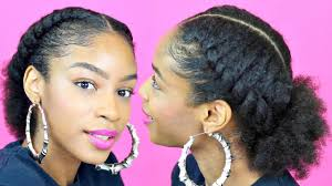 hair pony tail for african hair flat twist ponytail on natural hair natural hairstyles youtube