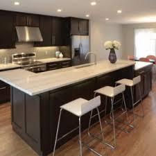 best shaker style cabinets dark wood light flooring small kitchen