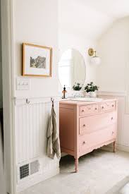 pink marble bathroom traditional with sink niche metal cabinet and
