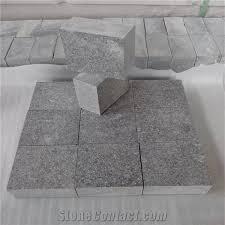 Granite Patio Pavers G654 Granite Cube Flamed G654 Granite Paving Grey