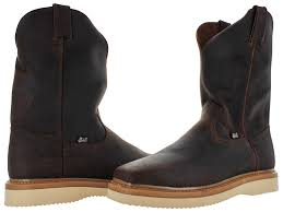 s boots justin justin original s pull on square toe work boots wellington