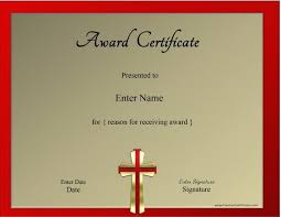 award certificate samples christian certificate template customizable