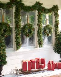 Outdoor Christmas Garland by Outdoor Lit Pinecone Foliage Balsam Hill
