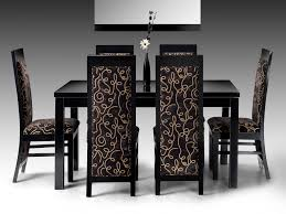 Dining Room Modern Dining Room Modern Fromal Black Dining Room Set With Glass Top