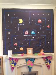 Home Made Party Decorations Homemade Pacman Wall Decoration Scene Setter Care Bear Back To