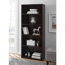 mainstays 5 shelf standard wood bookcase expresso walmart com