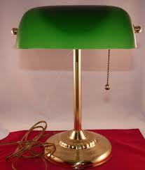 brass desk lamp with green glass shade good brass desk lamp with