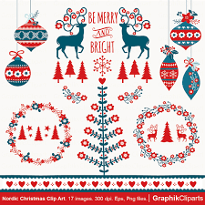 nordic christmas clipart vector christmas clipart christmas