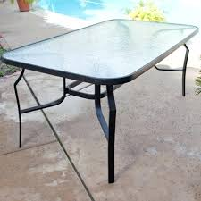 black patio table glass top garden table glass modern compact black 4 metal weatherproof