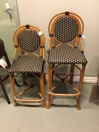 pair palacek bamboo u0026 rattan bar stools black u0026 tan consignment