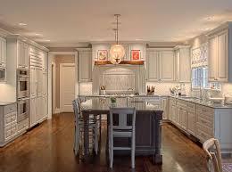 Modern Luxury Kitchen With Granite Countertop Kitchen Cabinet Modern L Shaped White Painted Wooden Kitchen