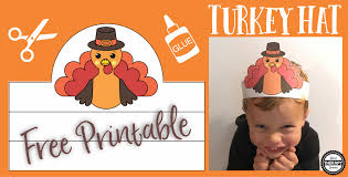 turkey hat free turkey hat scissor skills practice your therapy source