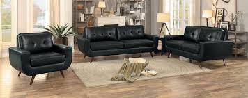 sofa match homelegance deryn sofa set black leather gel match 8327blk sofa